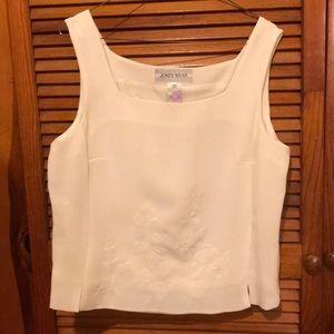 White thick strap blouse